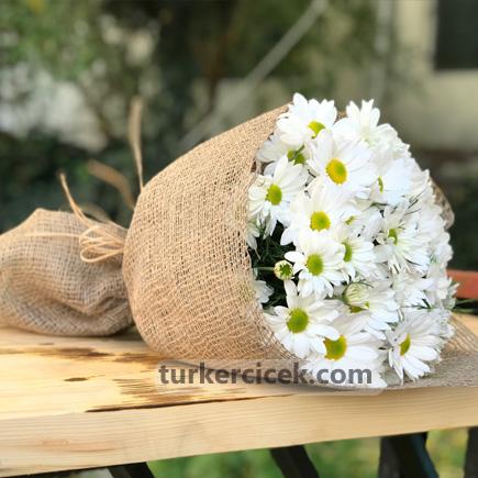 Beyaz Papatya Buket