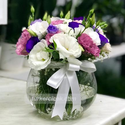 Renkli Lisyantus Çiçekleri